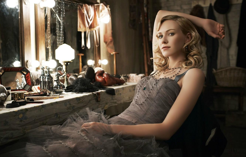Фото обои актриса, зеркало, Naomi Watts, гримёрка