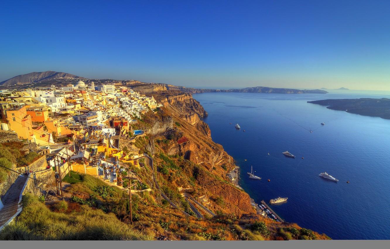 Обои побережье, greece, coast, греция. Города foto 12