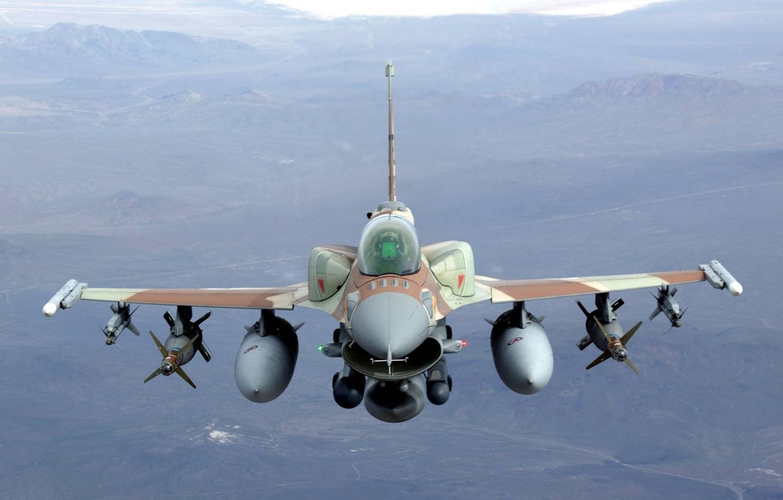 Фото обои Fighting Falcon, Jet, F16, Bombs, Air-to-air missiles