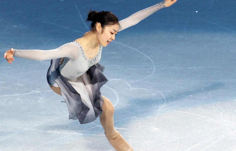 Фото обои girl, figure, Yuna, Nice, Kim, Skating, Corea, Olimpic