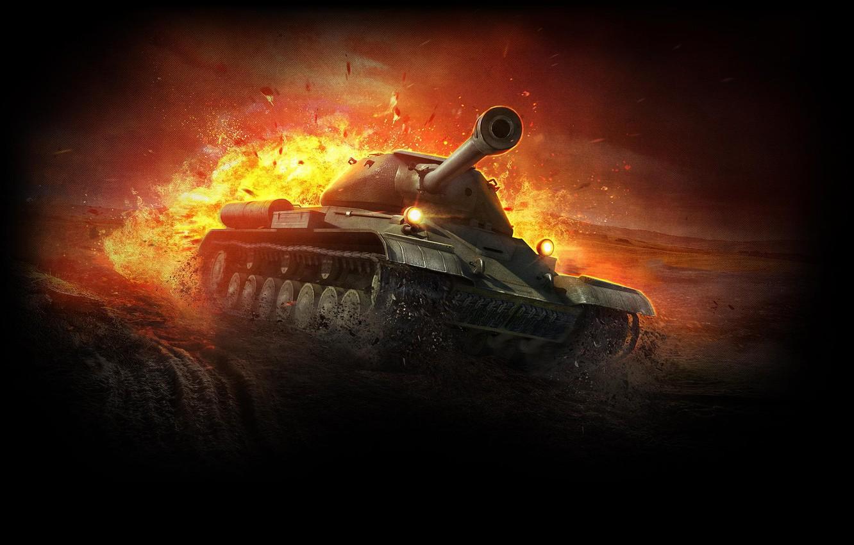 Фото обои Танк, WoT, World of Tanks, ИС-4