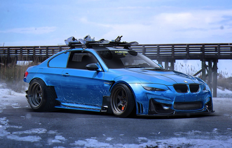 Фото обои BMW, Car, Blue, E92, Tuning, Future, Sport, by Khyzyl Saleem