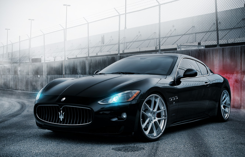 Фото обои чёрный, Maserati, black, GranTurismo, мазерати, гран туризмо
