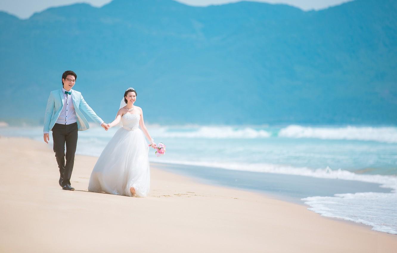невеста с женихом на берегу картинки настолько окрылила