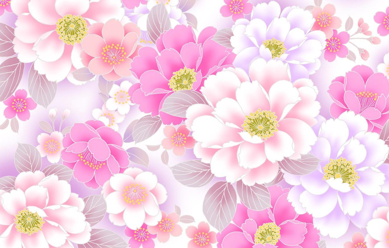 Фото обои цветы, коллаж, весна, лепестки, открытка