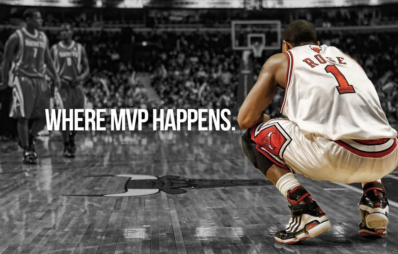 Фото обои Баскетбол, NBA, НБА, Chicago Bulls, MVP, Basketball, Derrick Rose