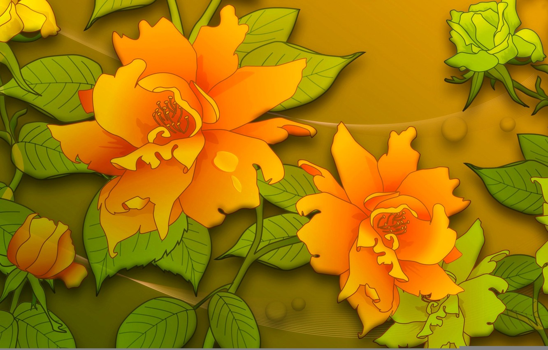 Обои цветы, Коллаж, рисунок, вектор. Разное foto 8