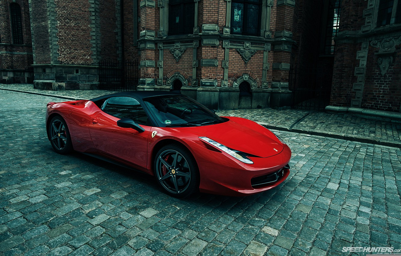 Обои Феррари, Ferrari 458 italia, улица. Автомобили foto 6