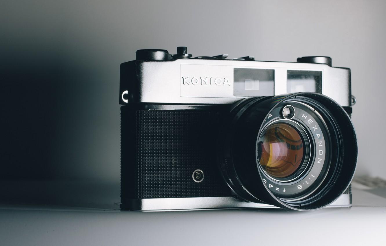 Фото обои макро, фон, камера, konica