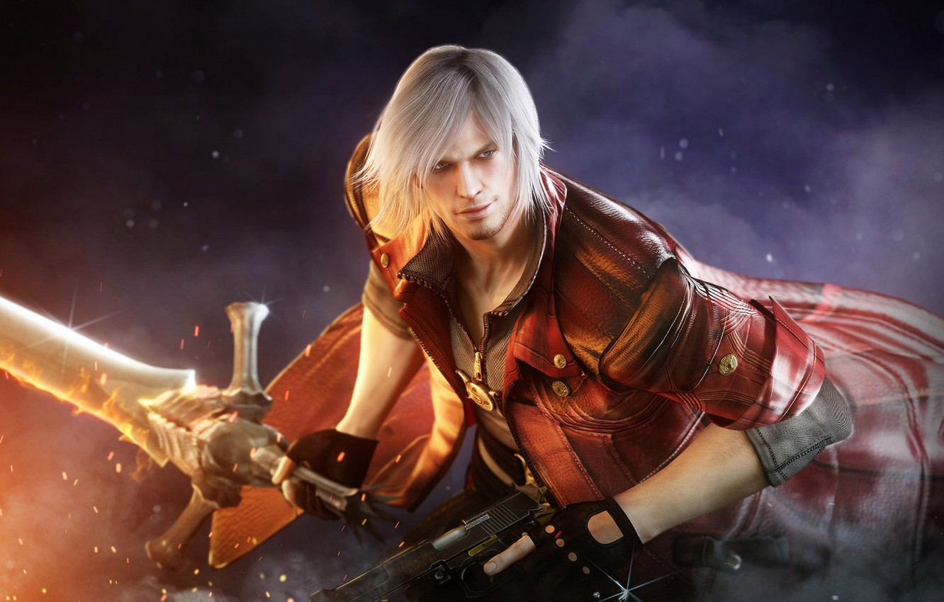 Фото обои demon, devil, dante, devil may cry 4, capcom
