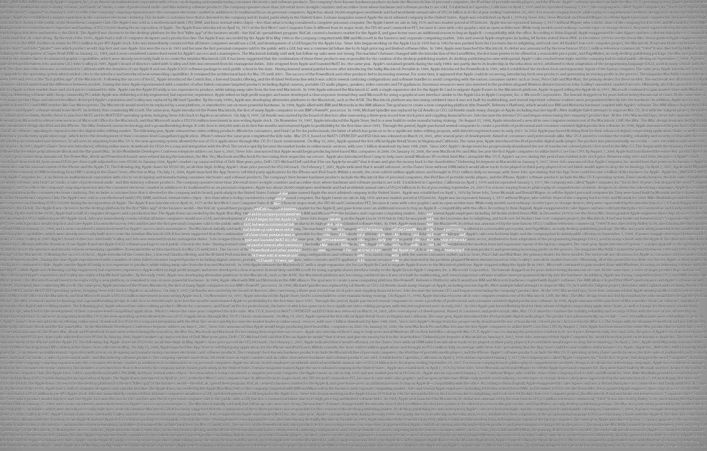 Фото обои надписи, серый, Apple