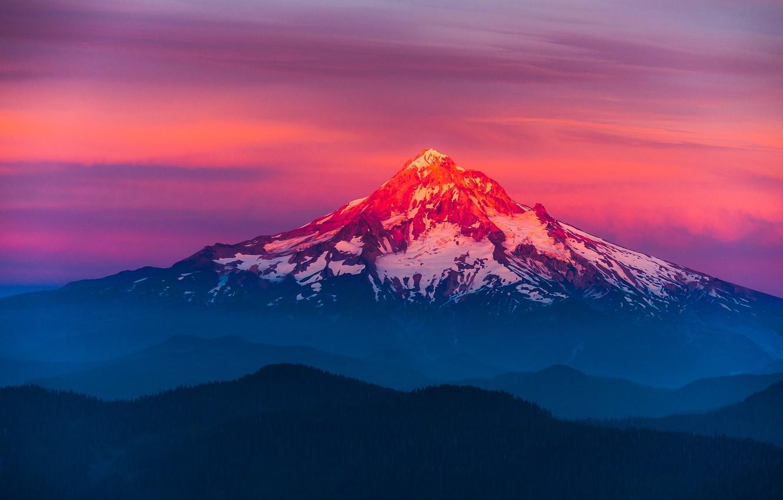 Обои mountains, Sunset, the. Природа foto 9