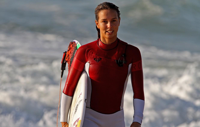 Фото обои девушка, доска, серфингистка, Sally Fitzgibbons
