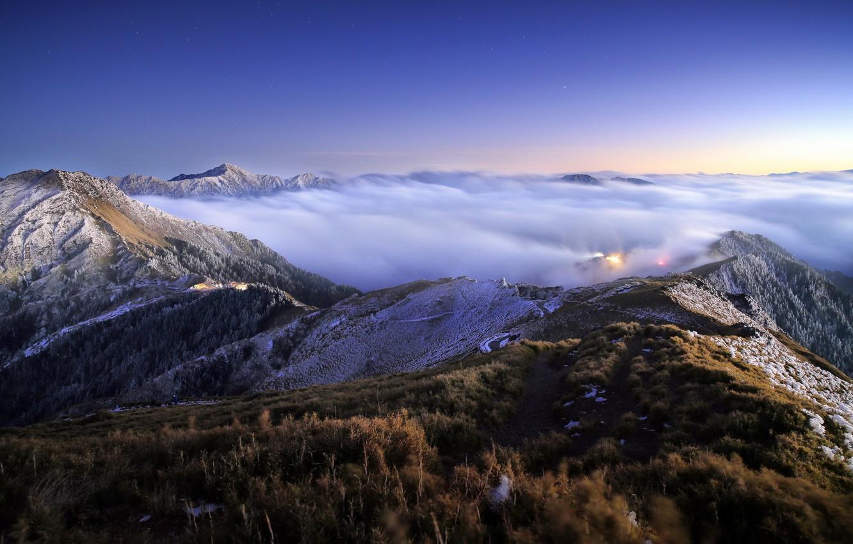 Фото обои пейзаж, горы, облока, Taroko National Park