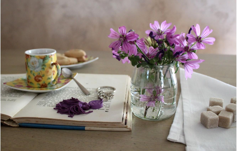 Обои кружка, напиток, ложечка, блюдце, чай. Разное foto 19