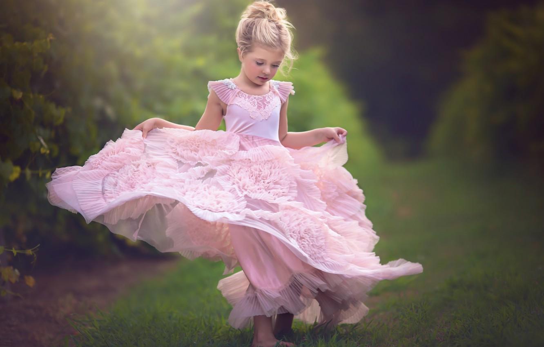 Фото обои настроение, платье, девочка