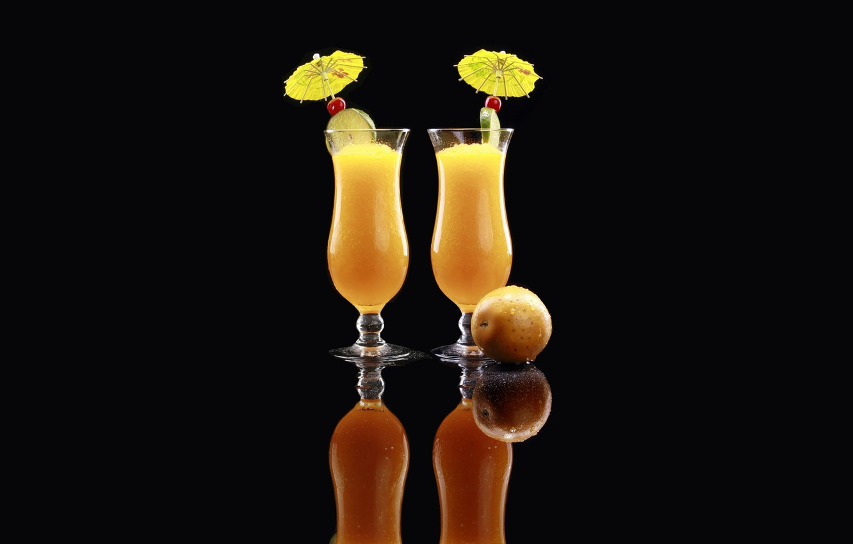 Обои Цвет, лайм, ананас, бокалы, Вишня. Разное foto 11