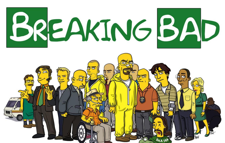 Фото обои Симпсоны, Во все тяжкие, Breaking Bad, The Simpsons