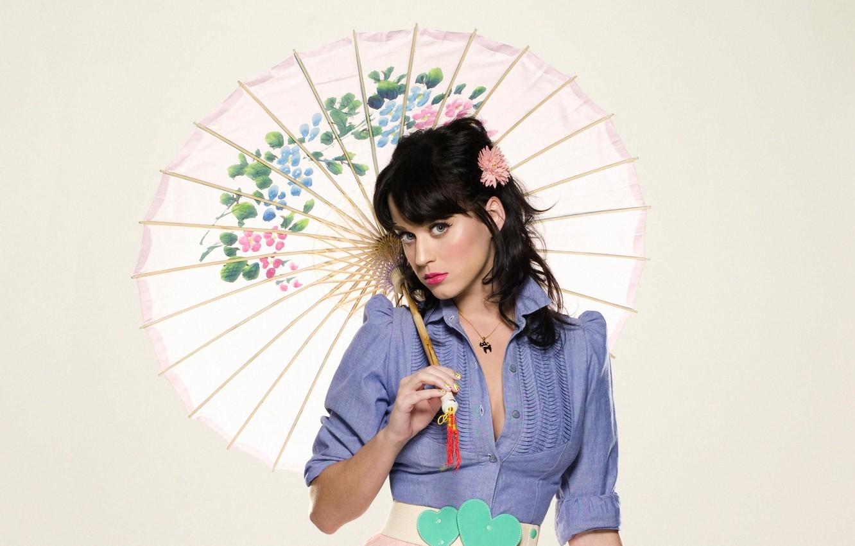 Фото обои девушка, зонтик, Кэти Перри, певица, katy perry