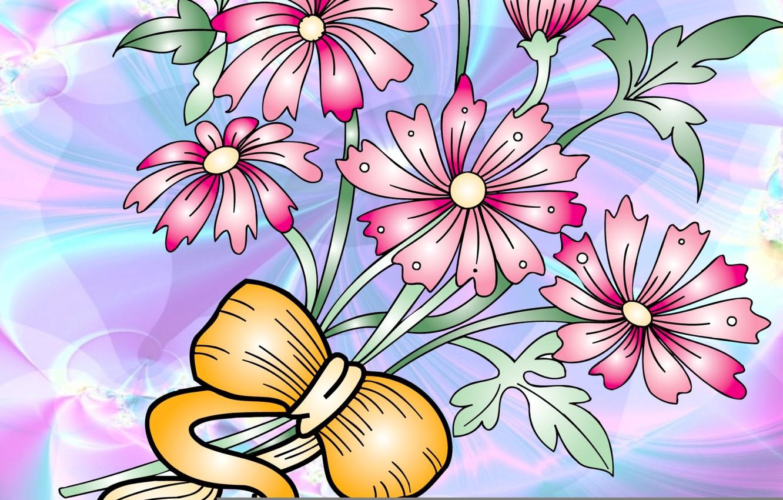 Обои вектор, абстракция, цветы, открытка. Разное foto 8