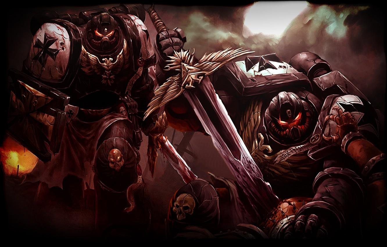 Фото обои Warhammer, Black Templars, Чёрные Храмовники, 40000
