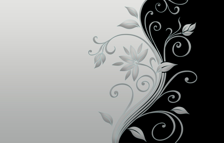 Фото обои minimal, black, flower, grey, blossom