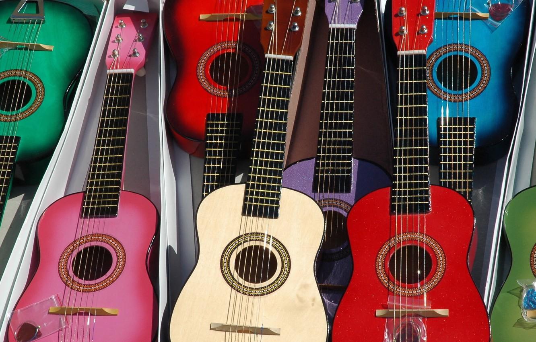 Фото обои фон, гитары, коробки
