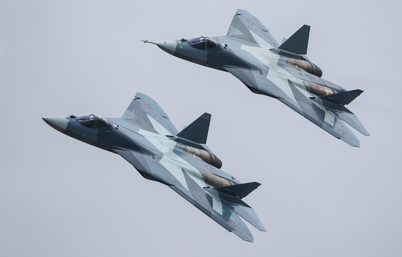 Обои Пятого поколения, многоцелевой, ПАК ФА Т-50, Самолёт, сверхзвуковой, Владислав Перминов, истребитель. Авиация foto 6