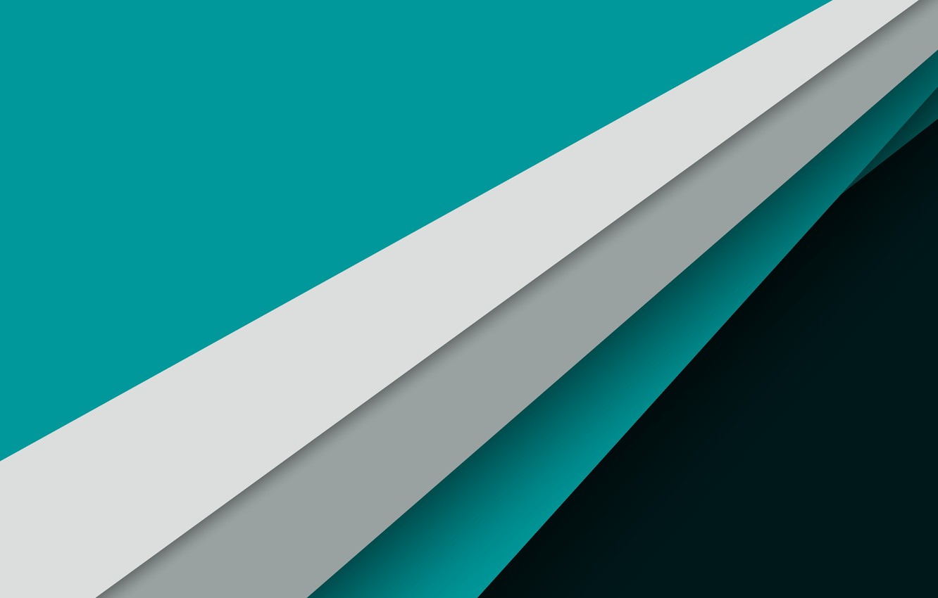 Фото обои Android, Design, 5.0, Line, White, Lollipop, Stripes, Turquoise, Abstraction, Material