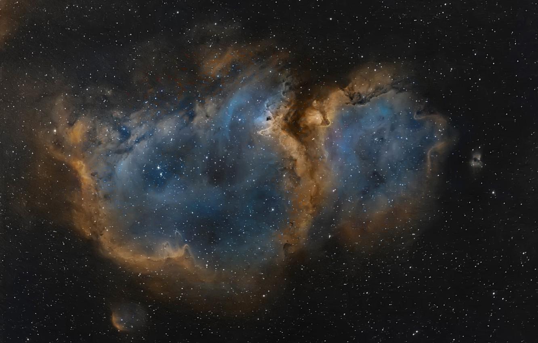 Фото обои космос, звёзды, Туманность, Кассиопея, мироздание, «Душа»