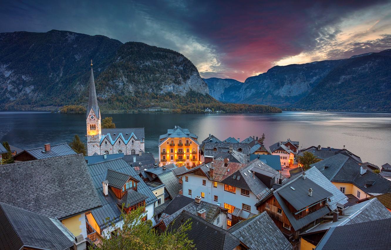 Обои hallstatt, lake hallstatt, австрия, гальштат, austria, alps. Города foto 12