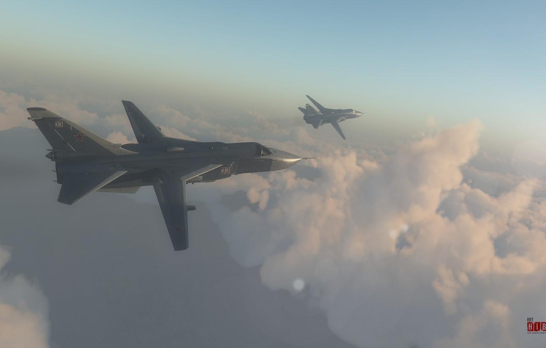 Обои бомбардировщик, Облака, Самолёт. Авиация foto 9