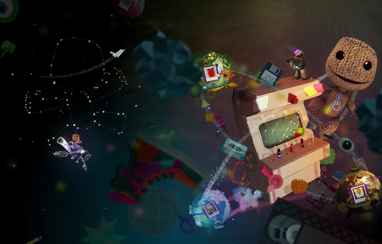 Фото обои игра, планета, большая, game, Little Big Planet, маленькая, компьютерные игры, pc games, sackboy, видео игры