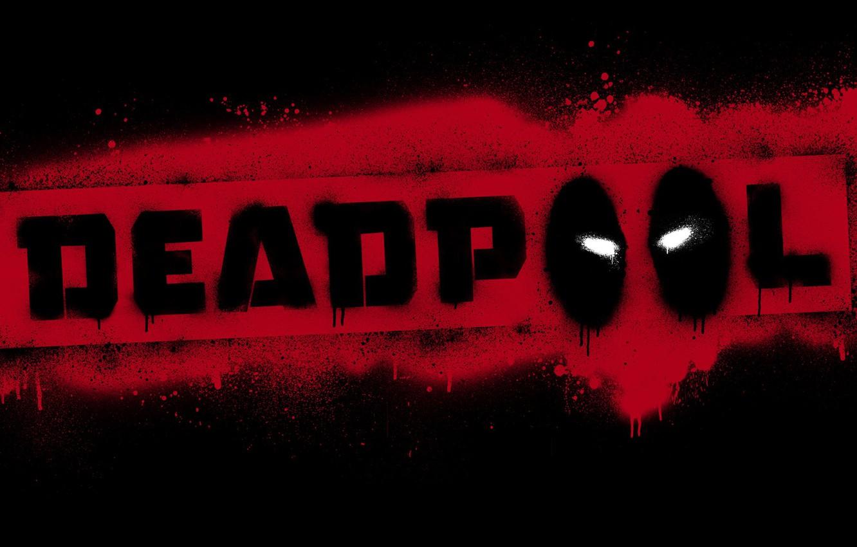 Фото обои красный, чёрный, лого, Deadpool