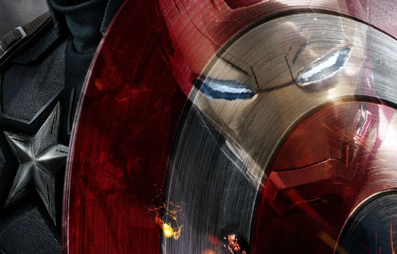Фото обои Фильм, Iron Man, Captain America, Captain America: Civil War, Первый мститель: Противостояние