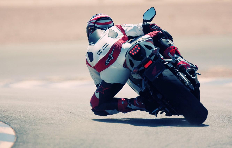 Фото обои гонка, Спорт, Асфальт, Мотоцикл, Гонщик, Мото, Honda, MotoGP
