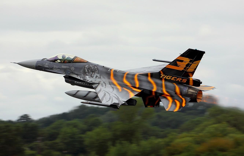 Обои Самолёт, F16. Авиация foto 8