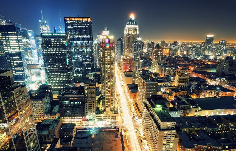 Обои rain dance, Times square, ночь, Nyc, new york. Города foto 9