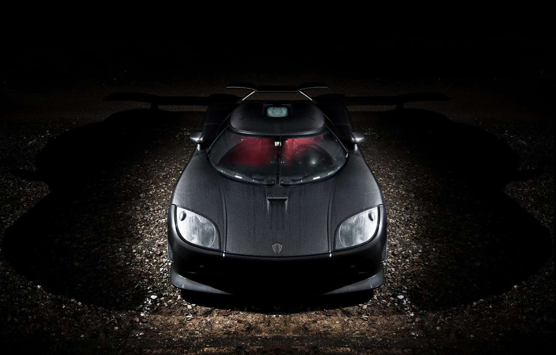 Фото обои ночь, Koenigsegg, перед, суперкар, карбон, supercar, night, front, carbon, CCXR, кёнигсегг, Edition