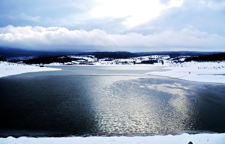 Фото обои лед, море, озеро
