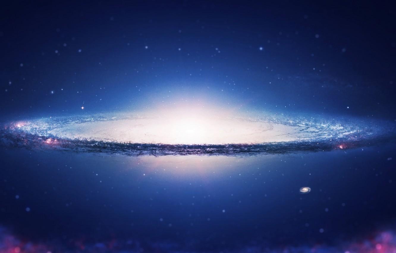 Фото обои space, sky, galaxy, spiral