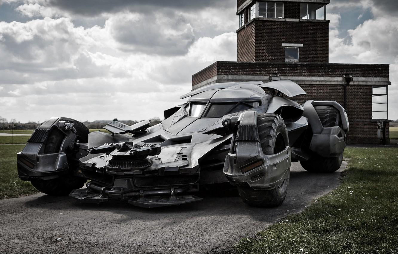 Фото обои авто, batman, пулемет, batmobile