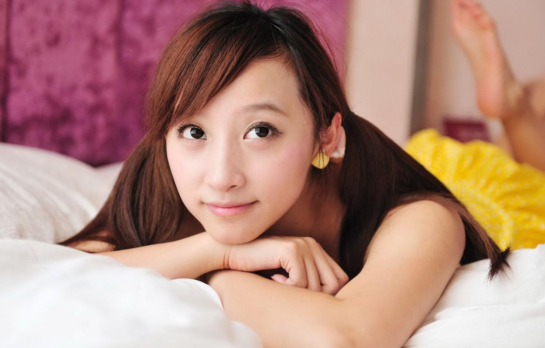 Фото обои girl, asian, cute