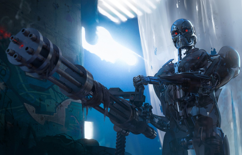 Обои амуниция, солдат, киборг, Фантастика, автомат. Фантастика foto 15