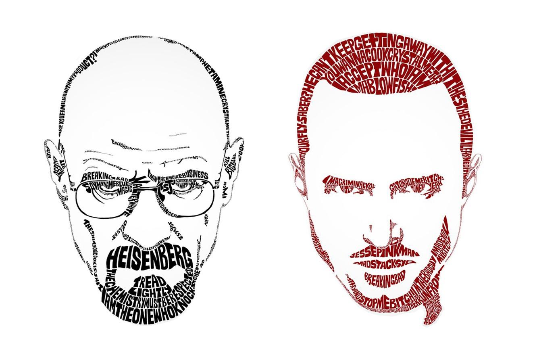 Фото обои Breaking Bad, face, Walter White, Heisenberg, Jasse Pinkman