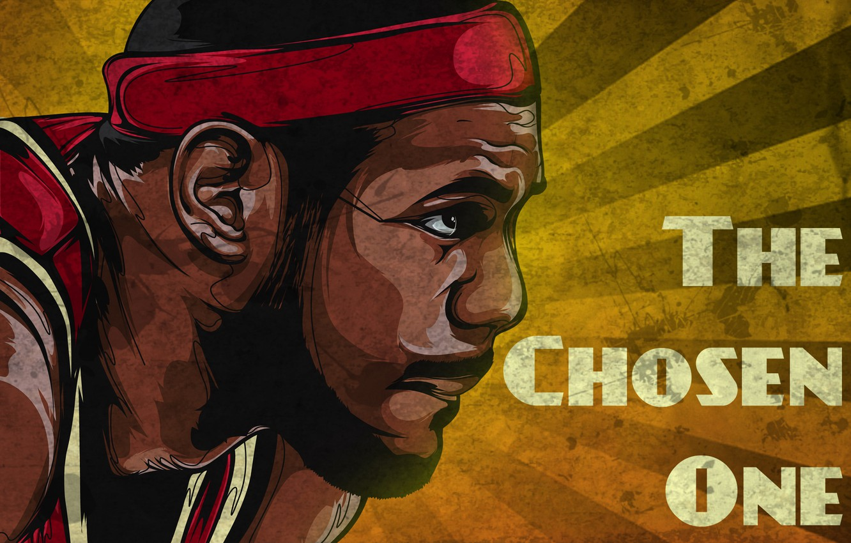 Фото обои Баскетбол, Art, NBA, НБА, Basketball, Lebron James, Retro, Miami Heat, Леброн Джеймс, Майами Хит