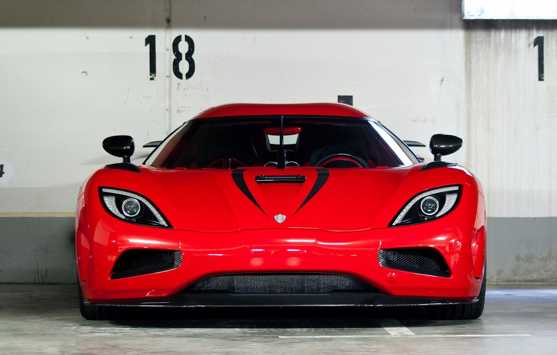 Фото обои красный, суперкар, red, supercar, агера р, кёнигсегг, koenigsegg, agera r