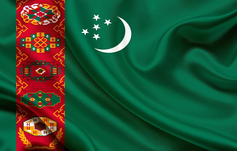 Фото обои флаг, зелёный, орнамент, Туркменистан, Turkmen, Turkmenistan, Baydak, welayat