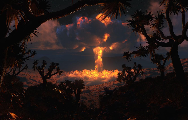 Фото обои взрыв, атомная бомба