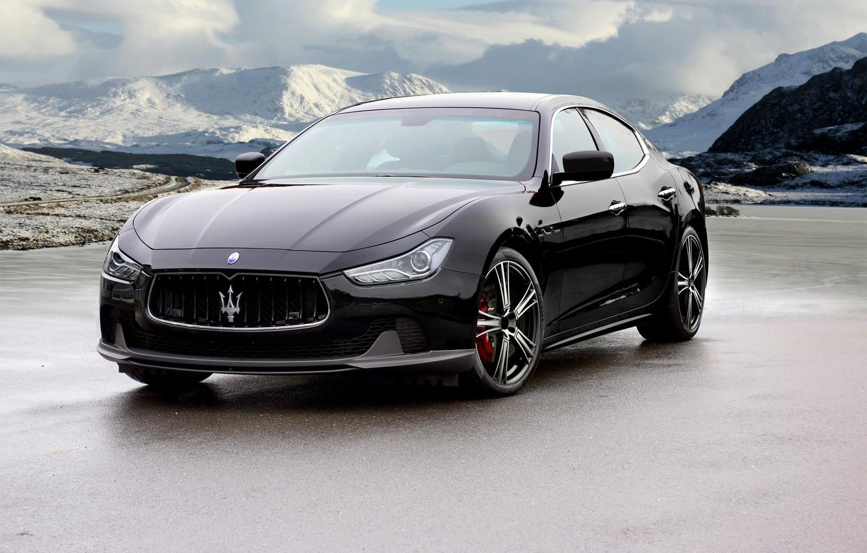 Фото обои черный, Maserati, Black, мазерати, Mansory, Ghibli